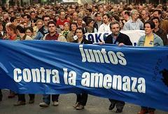Solidaridad con las personas amenazadas en Euskadi